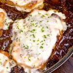 French Onion Soup Pork Chops