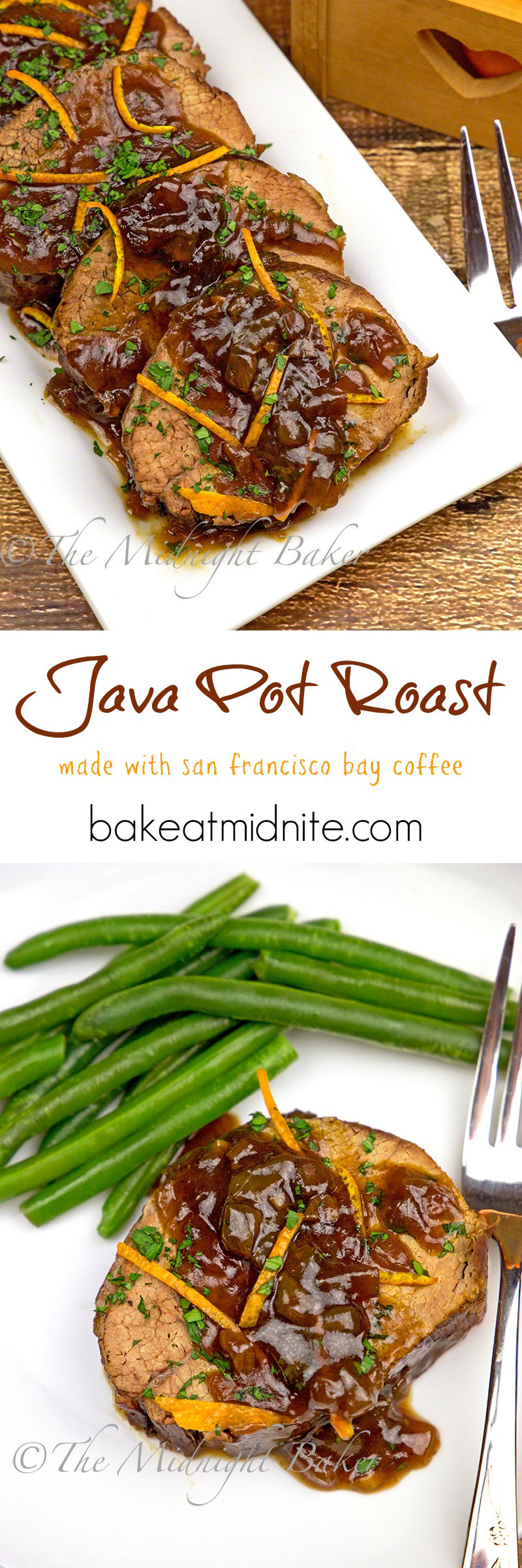Yummy pot roast with a surprise ingredient---coffee