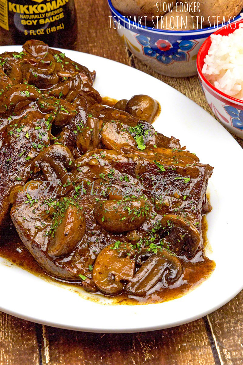 Slow cooked sirloin tip steak that infuses with tasty teriyaki taste as it cooks