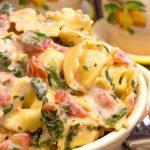 Creamy Spinach and Tomato Tortellini