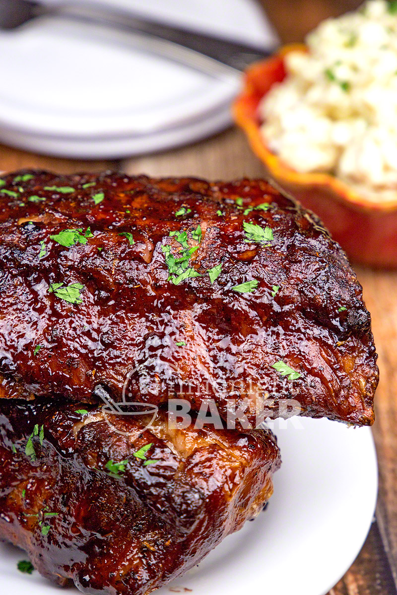 Succulent pork ribs roasted low and slow coated in a blackberry glaze with a hint of brandy.