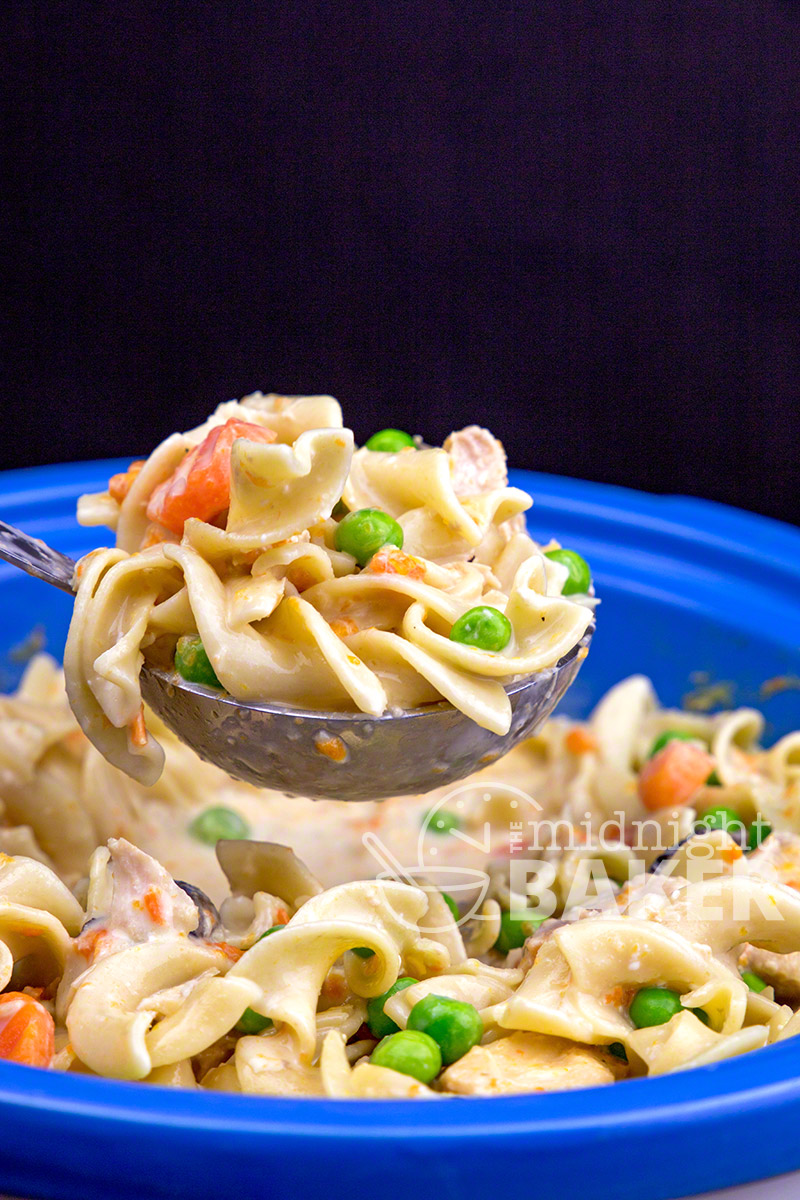 Slow Cooker Extra Creamy Chicken And Noodles The Midnight Baker