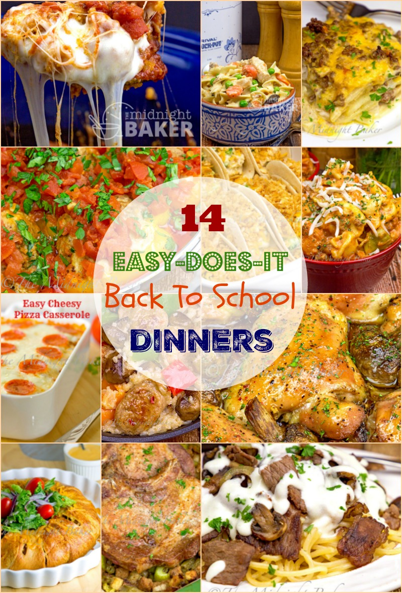 Two weeks of easy kid-pleasing back-to-school dinners