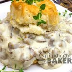 What makes this biscuit gravy super is not only the amount of sausage, but the added extras!