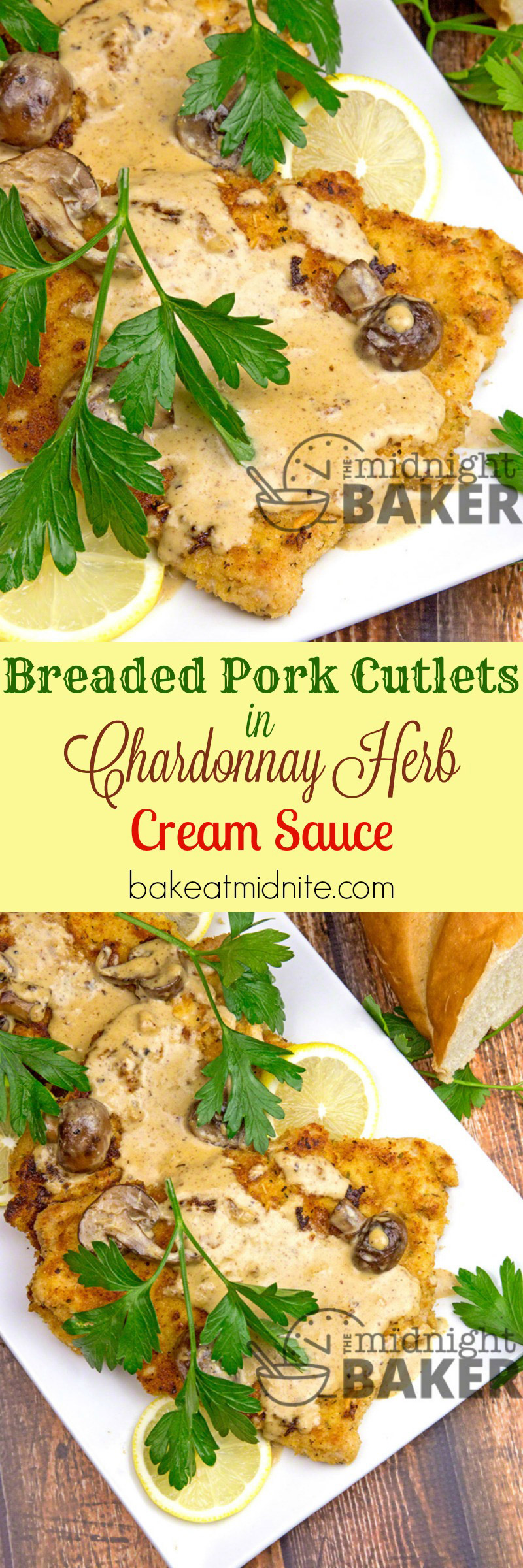 You'll never find boneless loin pork dry again after you taste these delicious cutlets in a rich chardonnay cream sauce. Guess what? It's easy too!