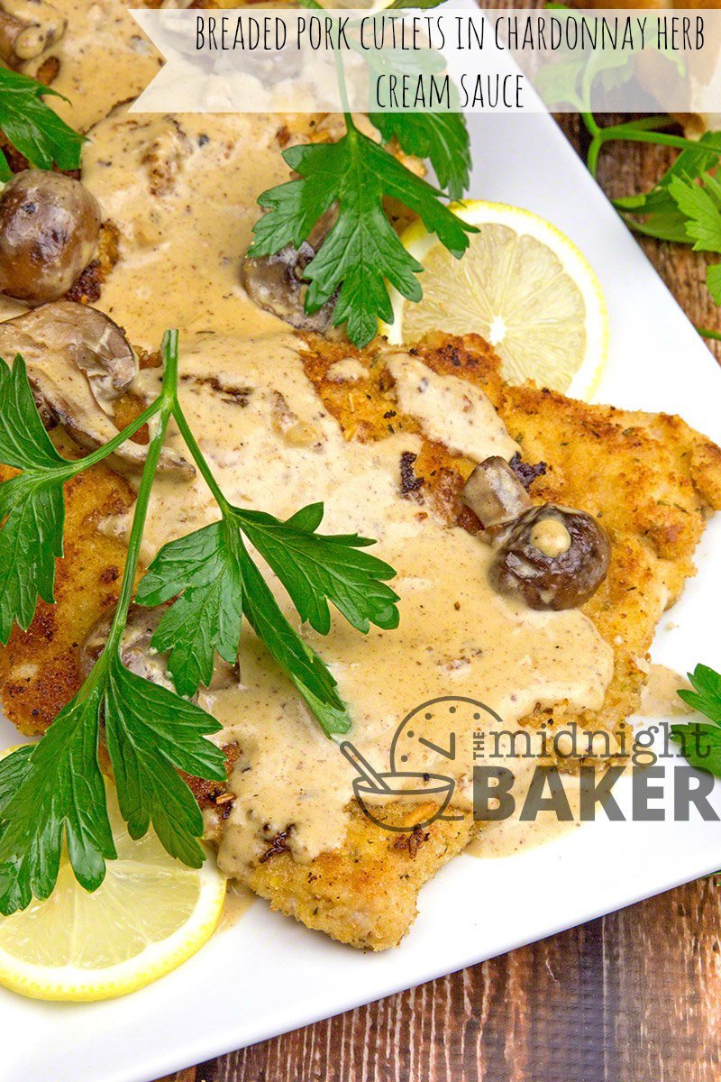 You'll never find boneless loin pork dry again after you taste these delicious porkcutlets in a rich chardonnay cream sauce. Guess what? It's easy too!