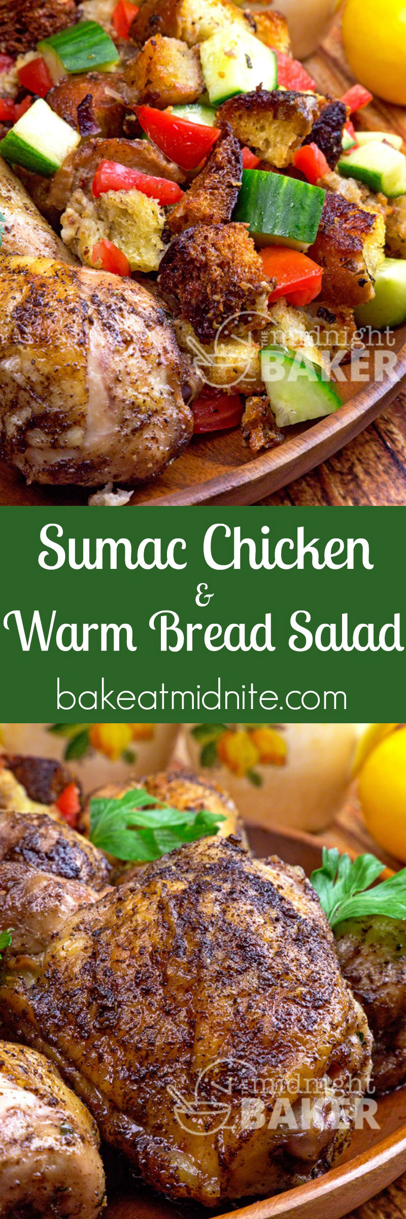 Chicken flavored with bright and citrusy sumac served with a warm artisan bread salad.