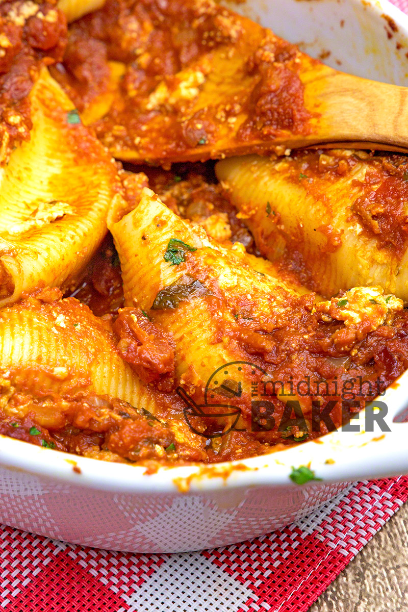 Delicious Italian-style shells stuffed with a savory cheese mixture.