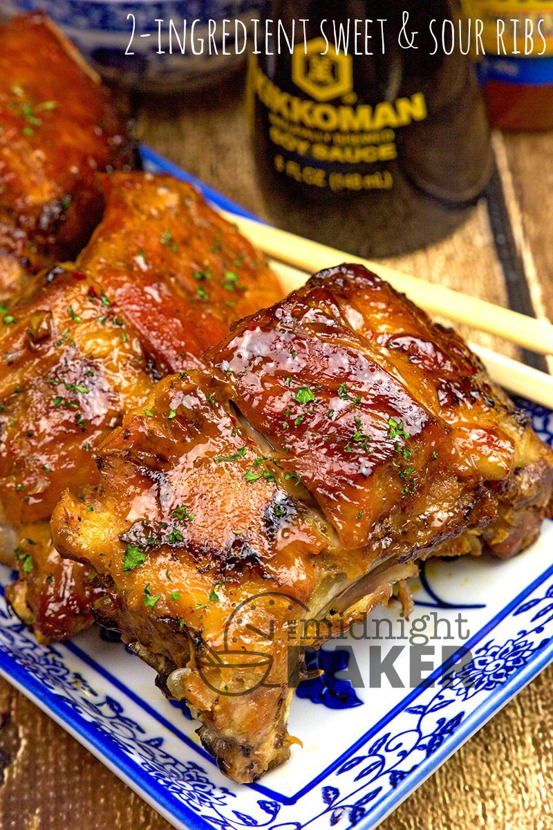 Just 2 simple ingredients and your slow cooker produce the most heavenly ribs imaginable.
