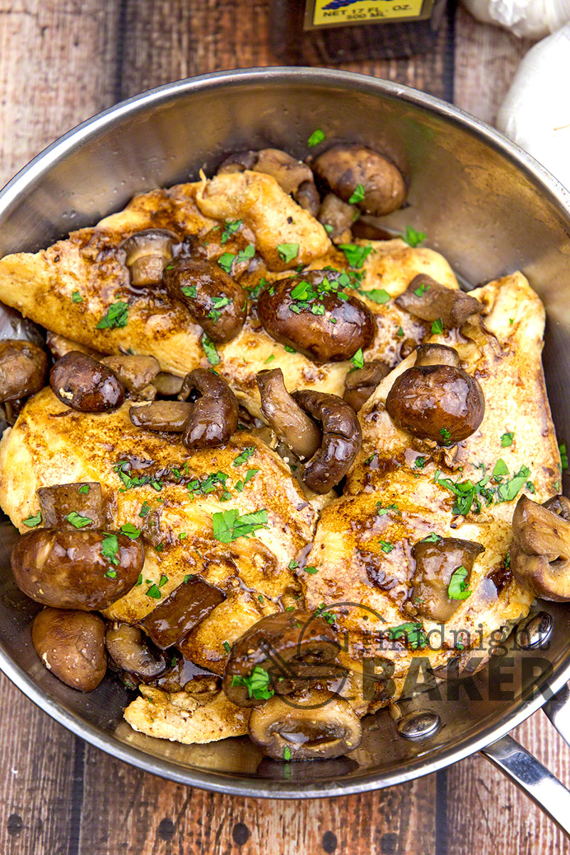 Delicious restaurant-quality balsamic chicken dinner ready in under 30 minutes!