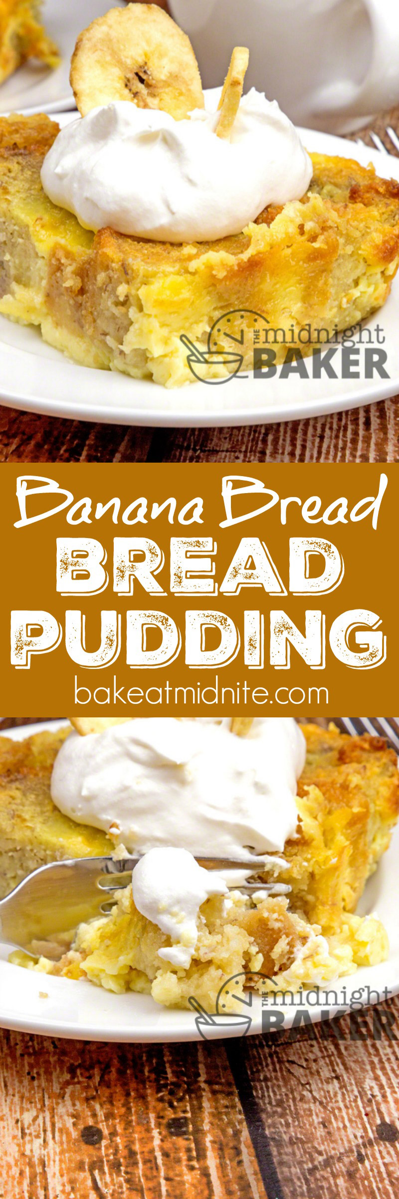 If you have any banana bread or cake left over, this is a wonderful dessert that will use up the leftovers
