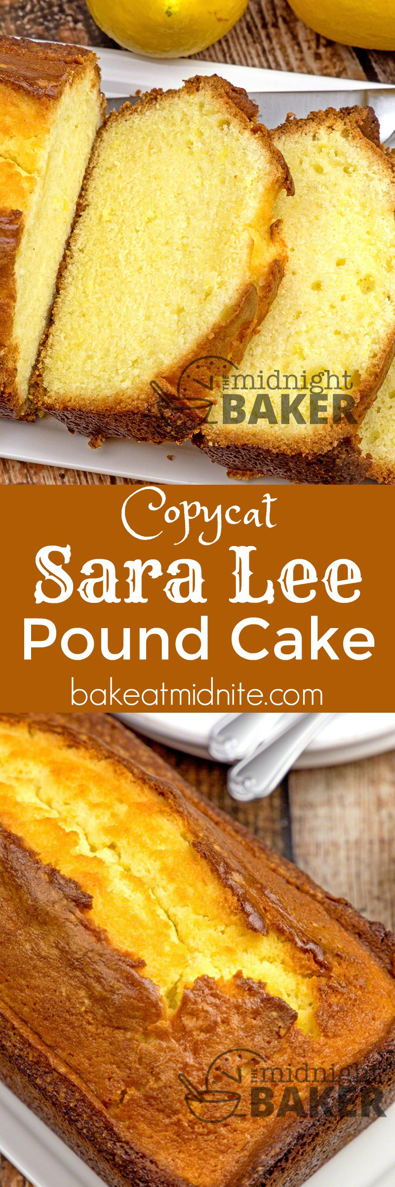 Copycat Sara Lee Pound Cake The Midnight Baker