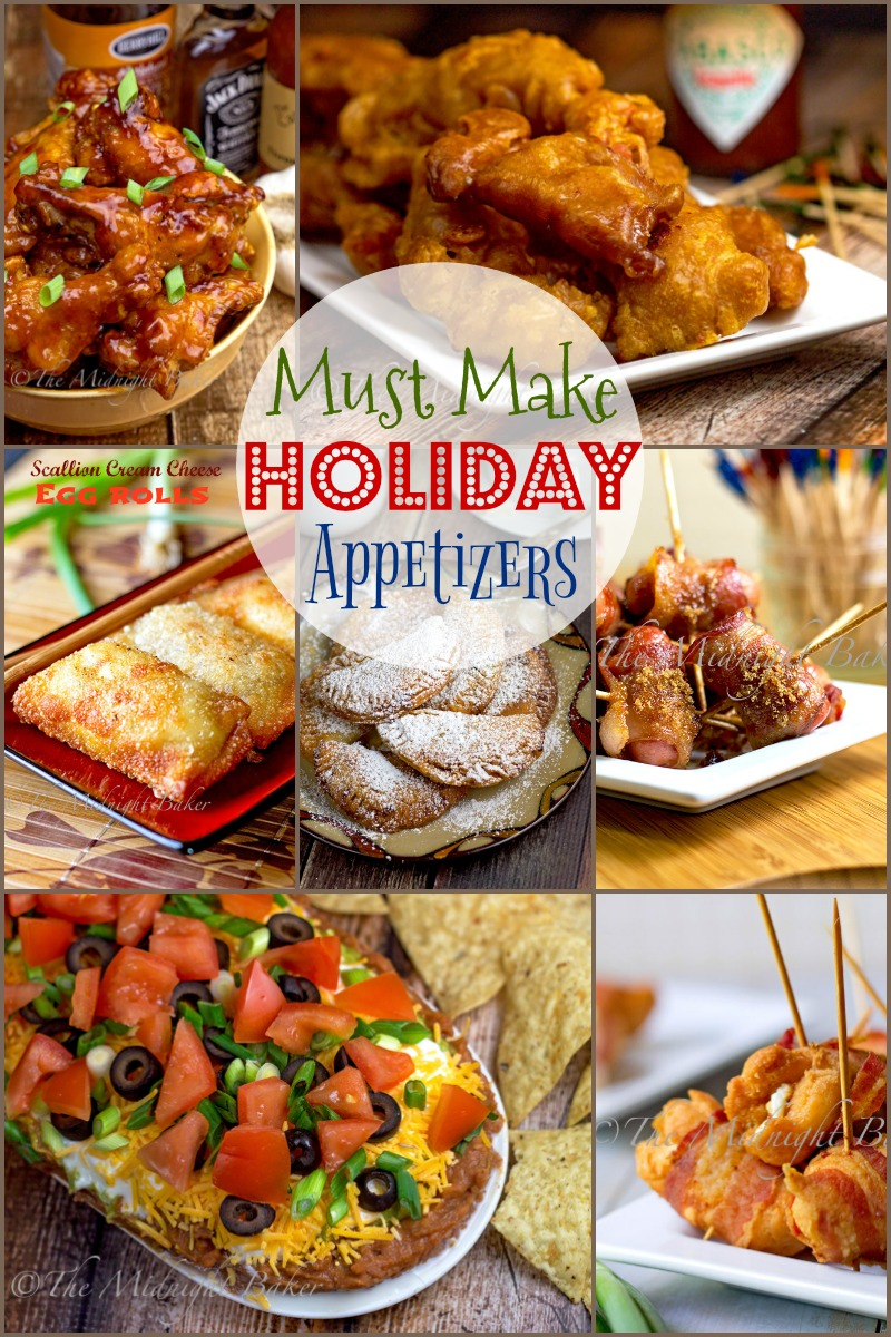 """The """"must make"""" appetizers for your holiday parties"""