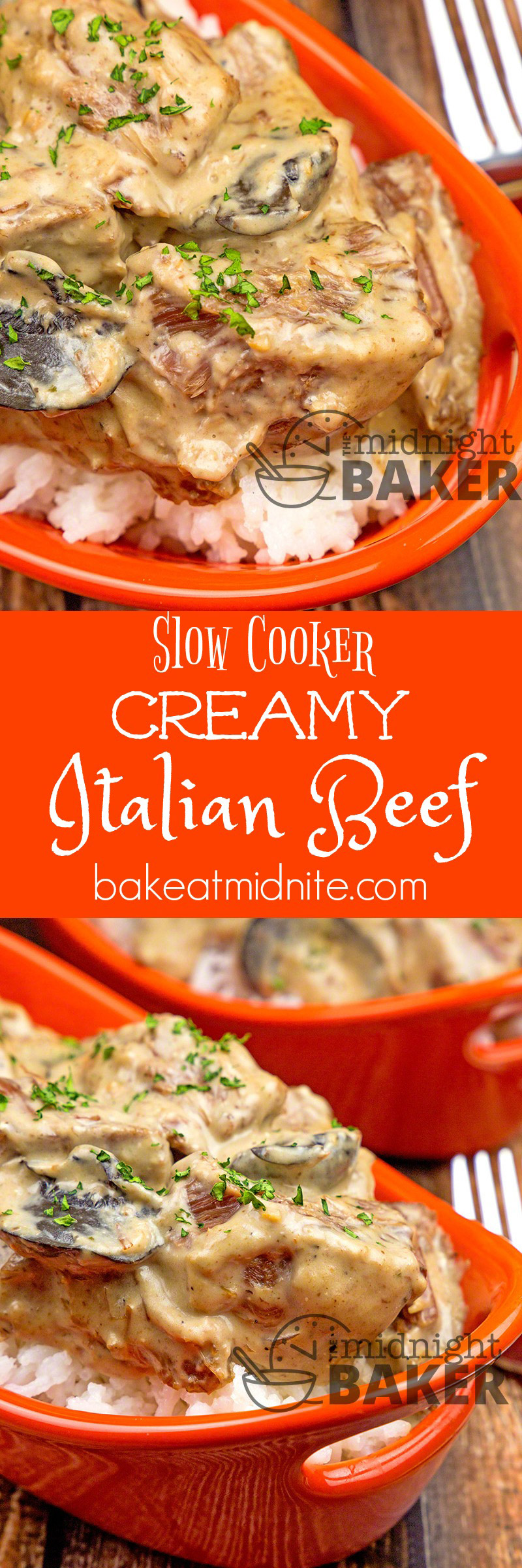 Slow cooked beef chunks in a creamy Italian-flavored gravy. Sure to become a family favorite