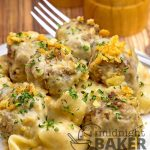 Cheesy Meatballs & Shells Casserole