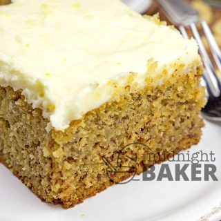 Moist snd fluffy banana cake with an awesome lemon buttercream icing.