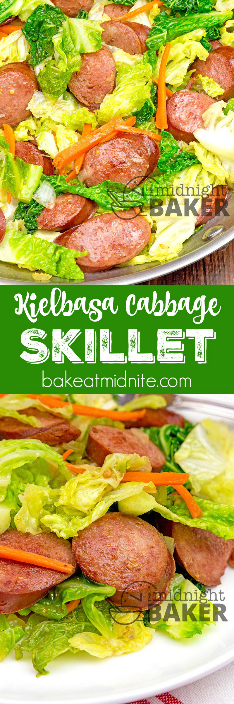 Not only is this kielbasa and cabbage skillet dinner delicious, it makes a gorgeous presentation too! Easy to make!
