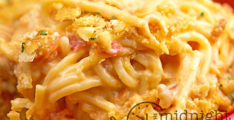 Rotel Chicken Spaghetti Casserole