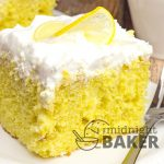 Lemon cake infused with a bright and tart lemonade cream pudding. Delicious dessert!