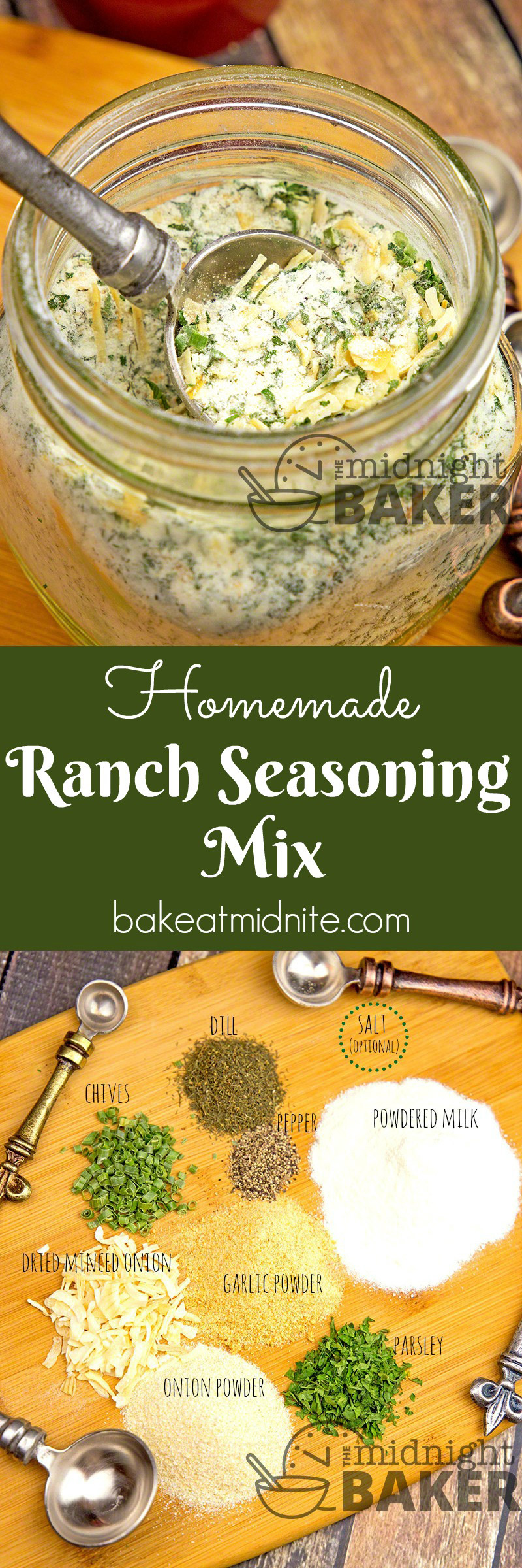If you're watching your sodium intake, this ranch seasoning mix is for you! If you're not then just add some salt!