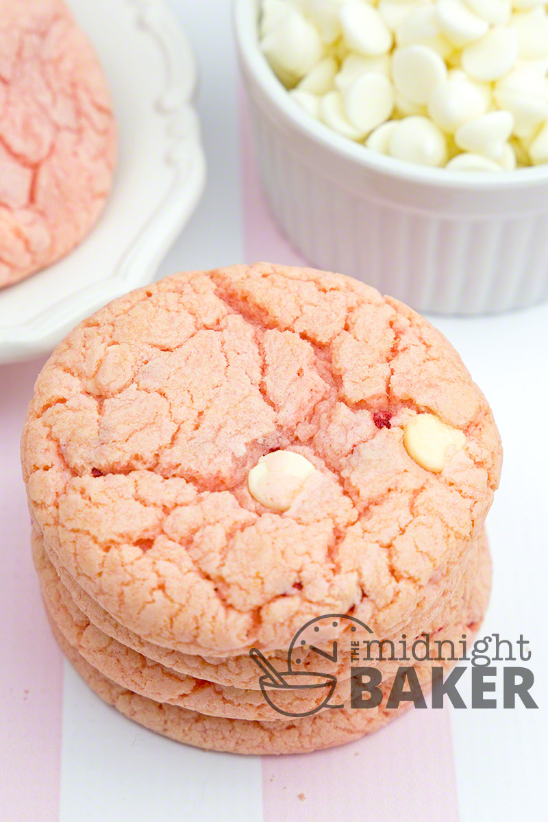 These cookies taste just like strawberries and cream. They're easy too!