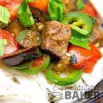The Thai version of eggplant ratatouille! Light and delicious!