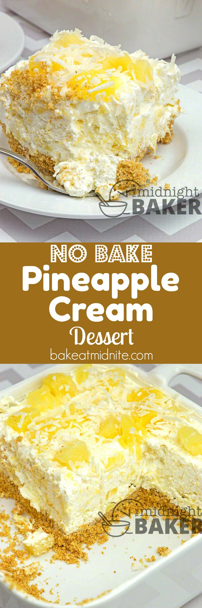 No Bake Pineapple Cream Dessert The Midnight Baker