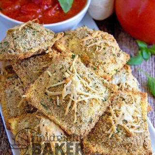 Crunchy and crispy baked ravioli make a great appetizer or snack.