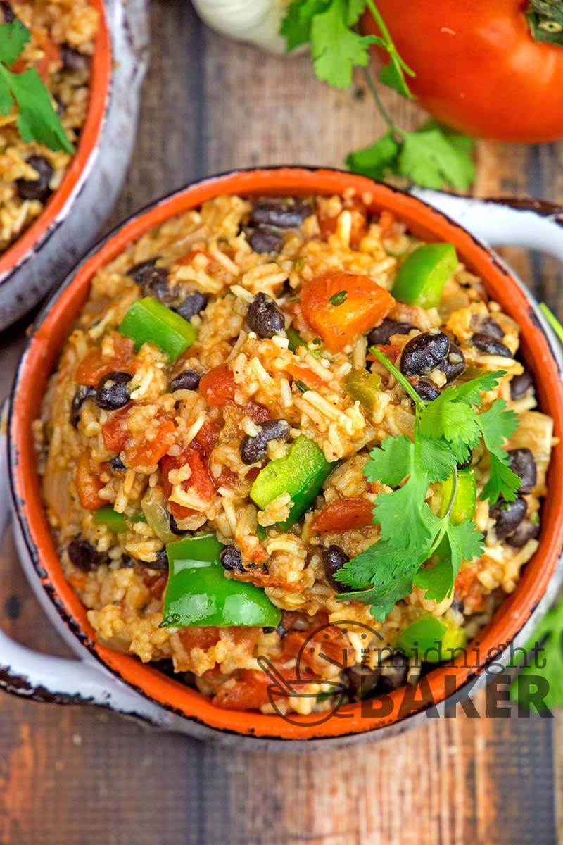 Spanish Rice With Black Beans The Midnight Baker