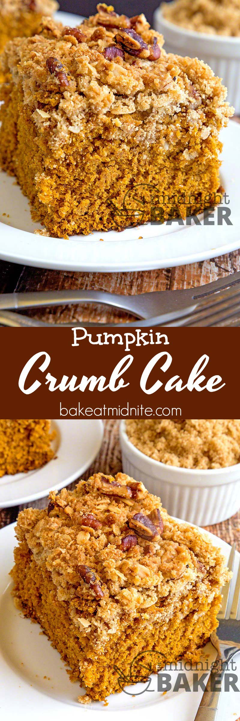 One of the most delicious pumpkin crumb coffee cakes you'll ever eat.