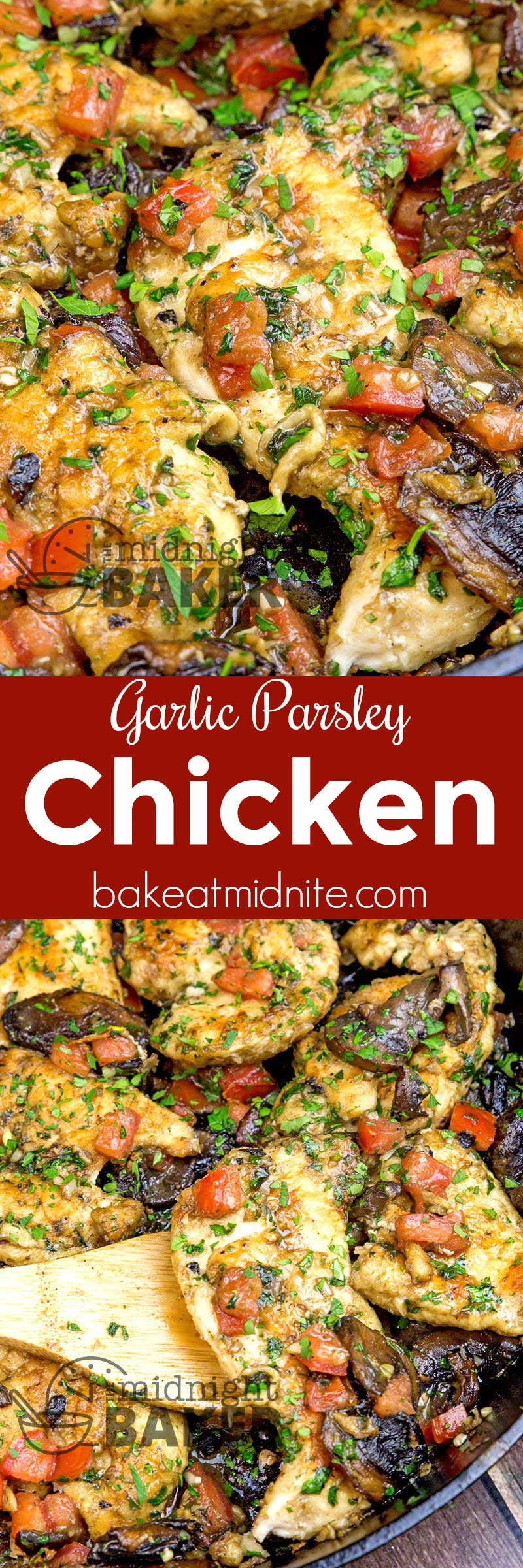 Quick and easy skillet chicken dinner thats oh-so grlicky