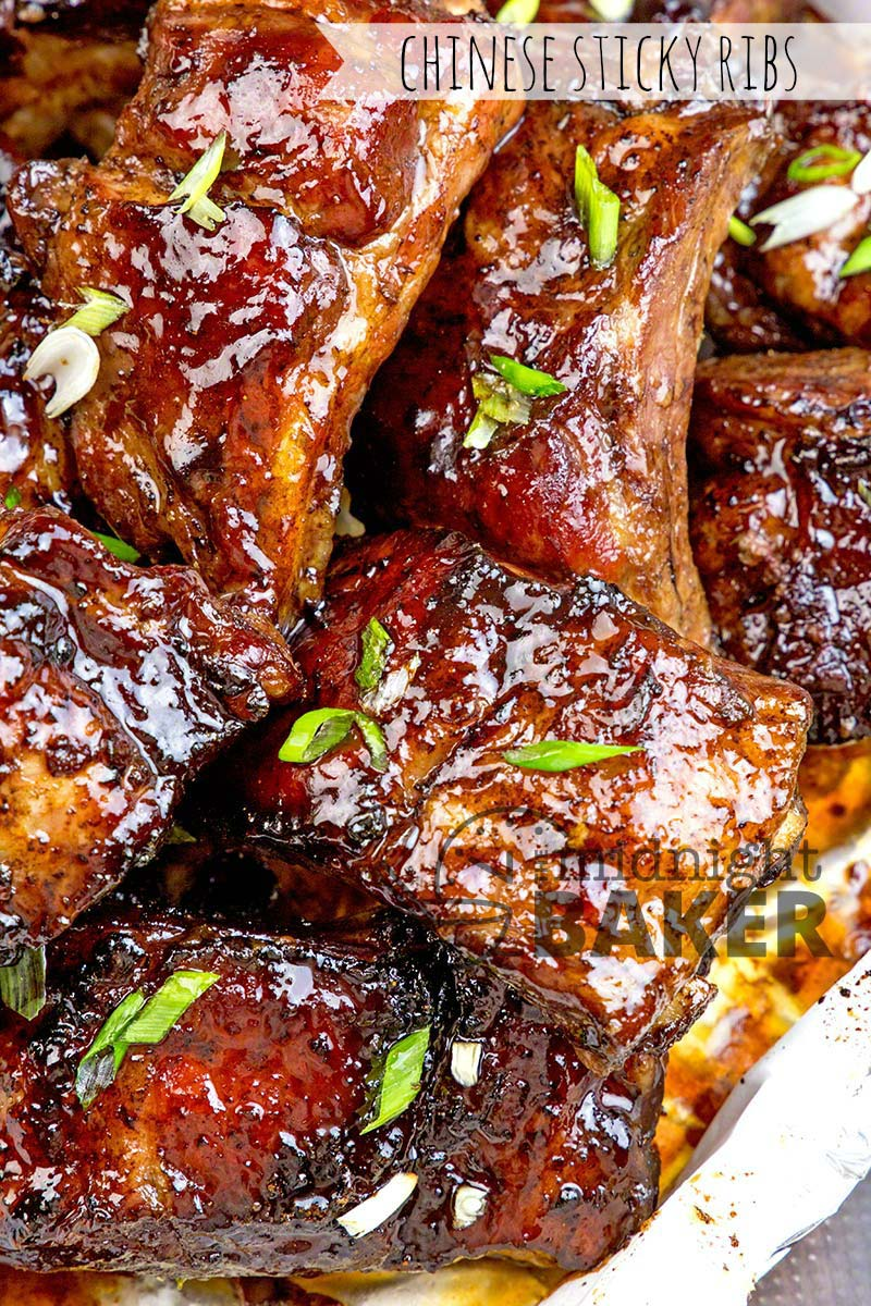 Chinese Sticky Ribs The Midnight Baker