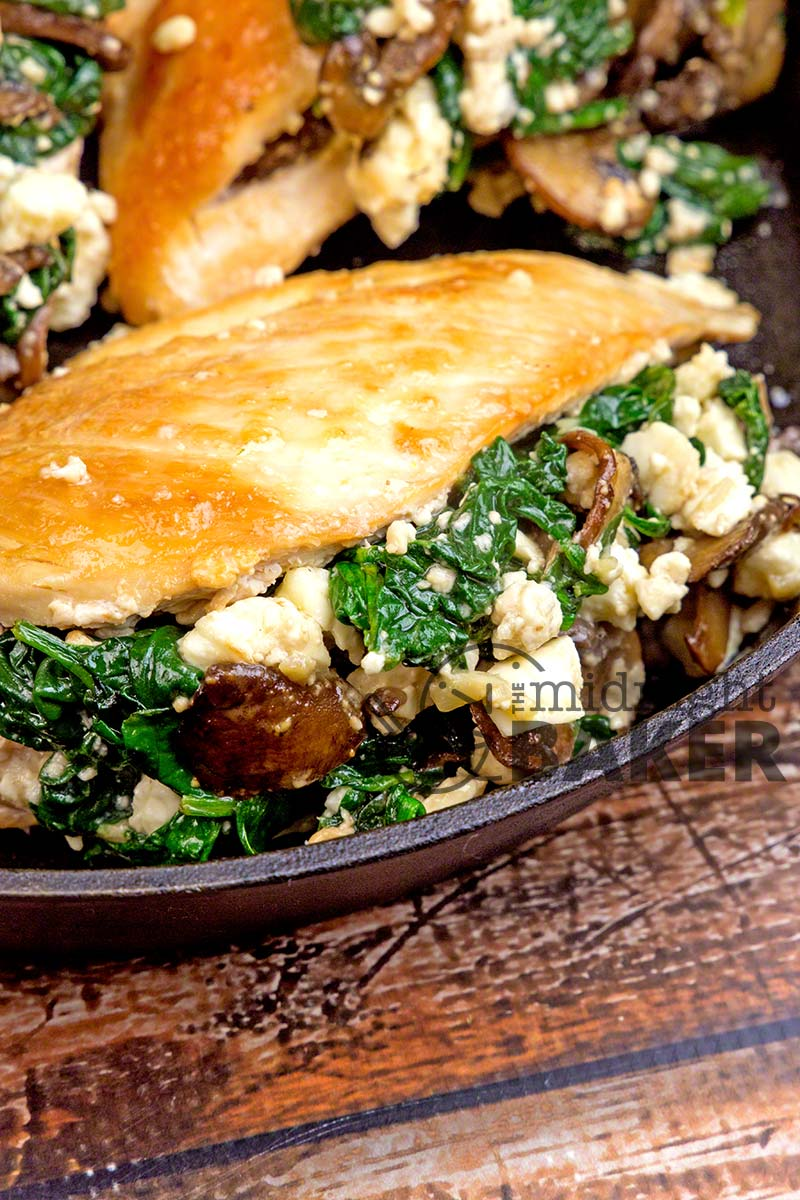 Spinach & Feta Stuffed Chicken - The Midnight Baker