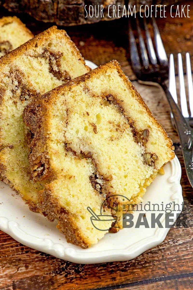 Sour Cream Coffee Cake The Midnight Baker