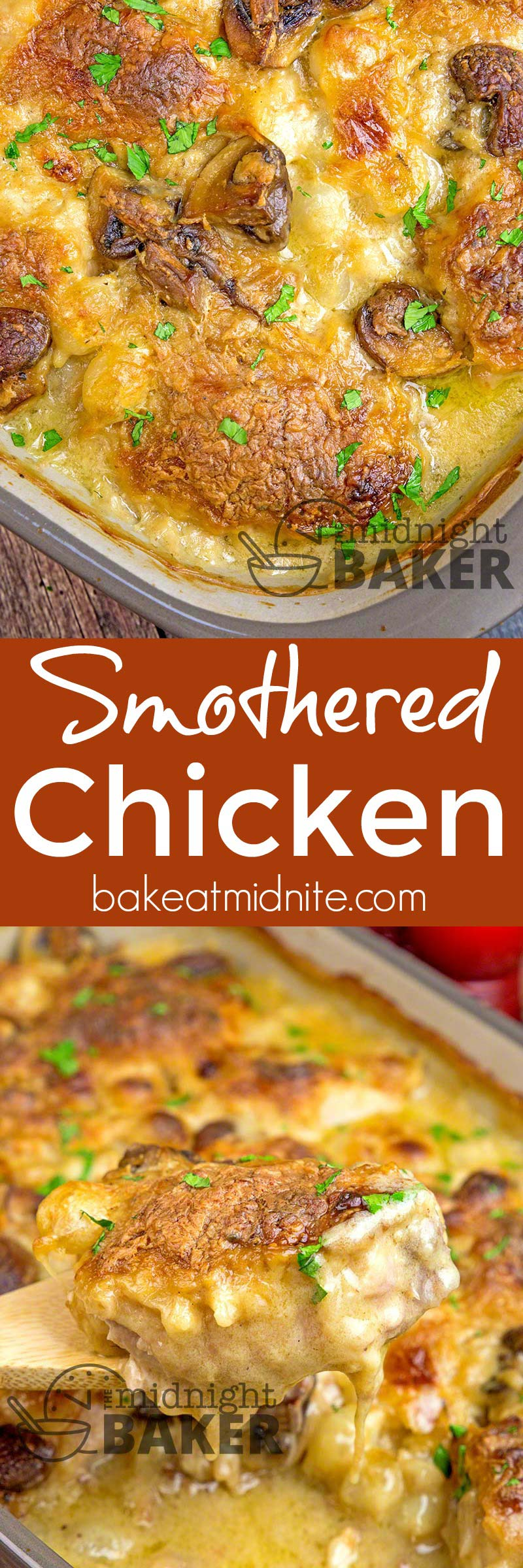 This smothered chicken is the ultimate comfort food!