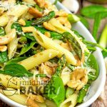 Roasted Asparagus And Spinach Pasta Salad