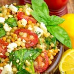 Flavorful couscous salad is a great side or a meatless meal. Easily made vegan!