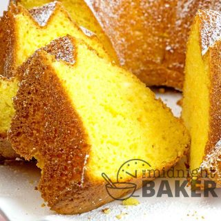 Quick and easy pound cake starts off with a convenient cake mix!