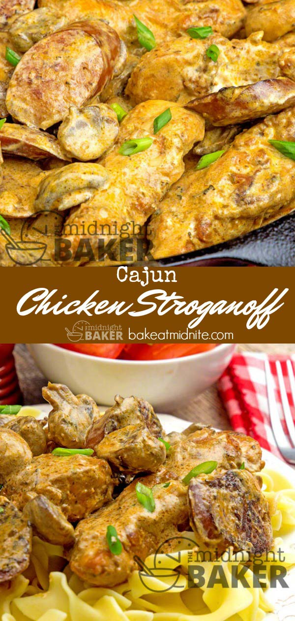 It's the Cajun spices that make this chicken stroganoff so special.