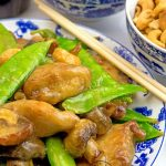 Cashew Chicken With Snow Peas And Mushrooms