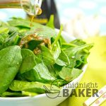 So simple yet so good! This spinach salad has very few ingredients.