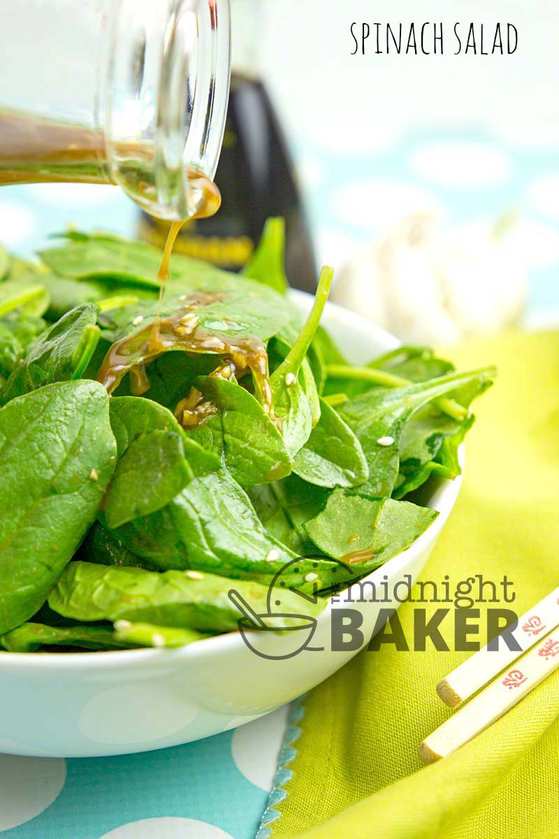 Spinach Salad The Midnight Baker