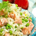 A little bit of salmon goes a long way in this tasty risotto