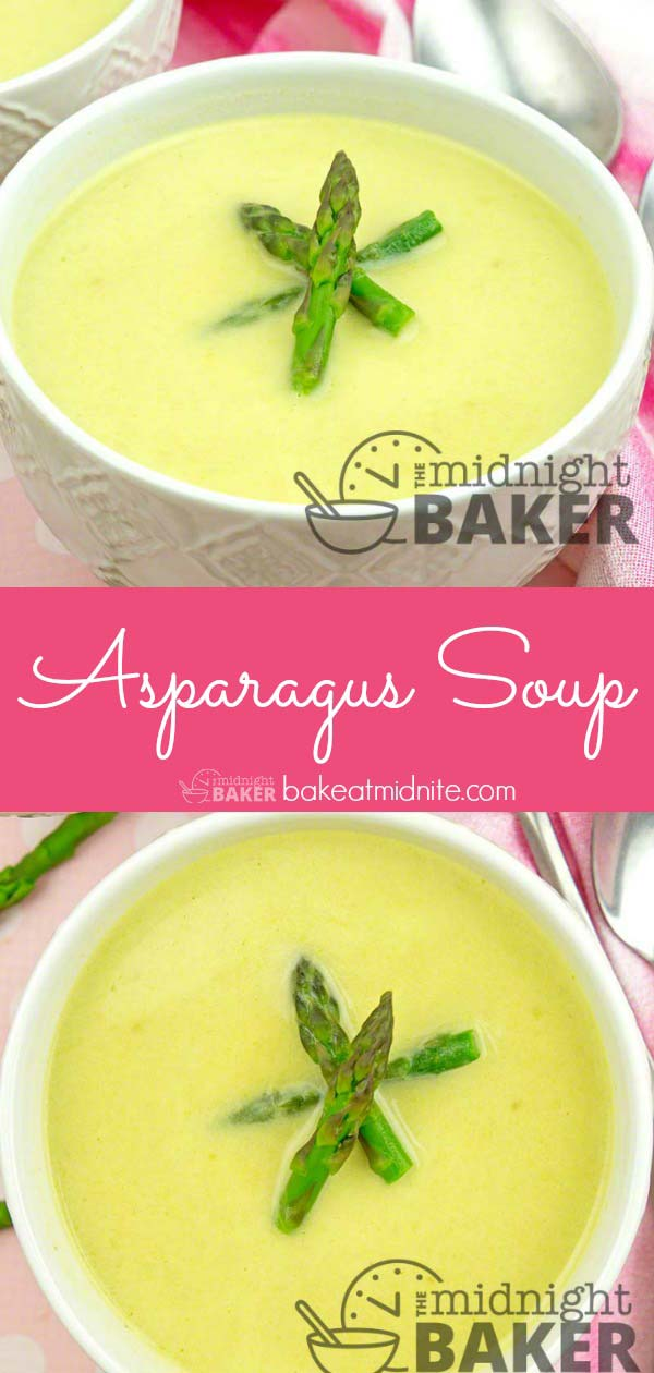 Light and delicious asparagus soup is easy to make.