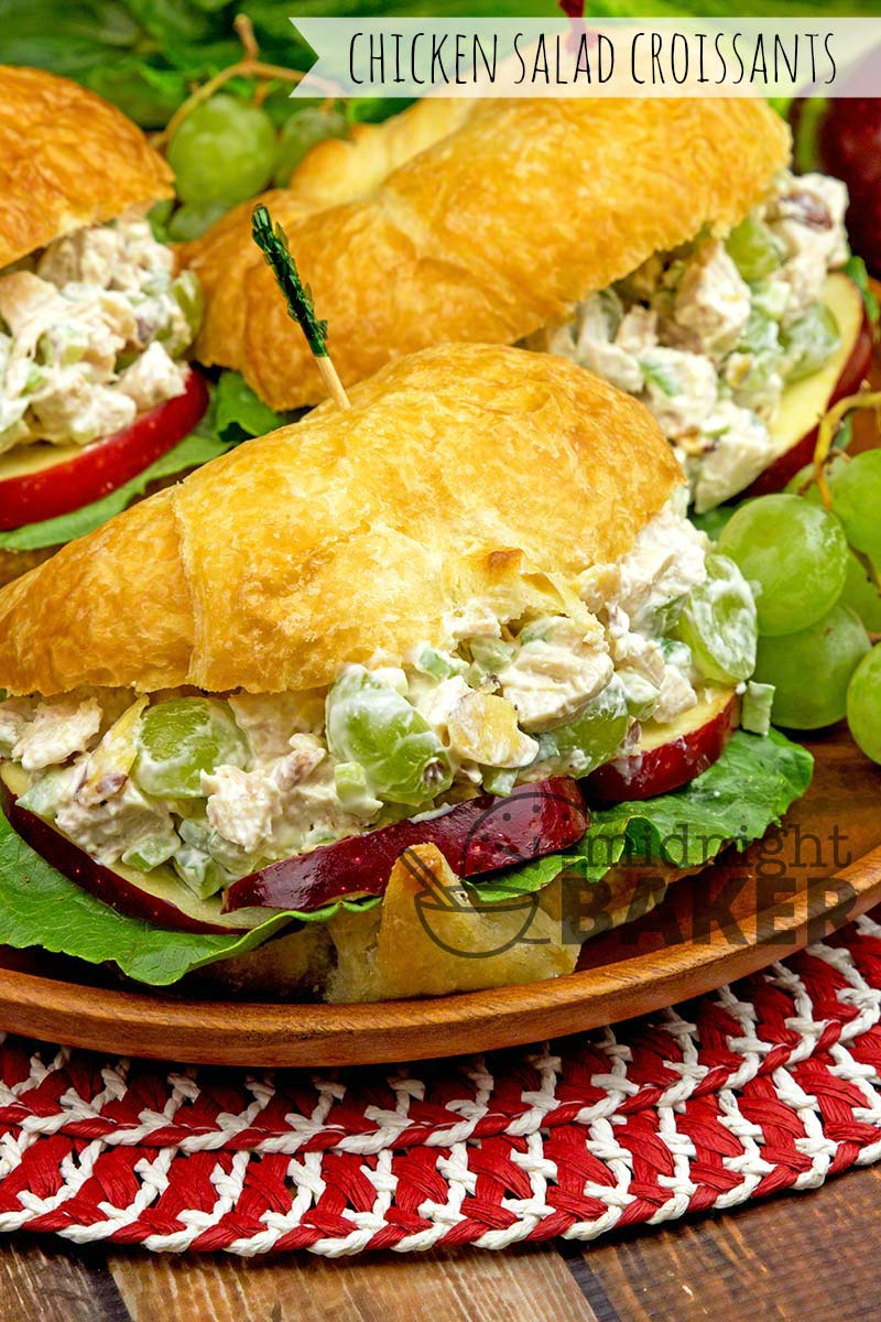 Fruity Chicken Salad Croissants The Midnight Baker