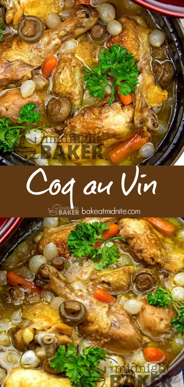 Easy and hearty this coq au vin is perfect on a cold night