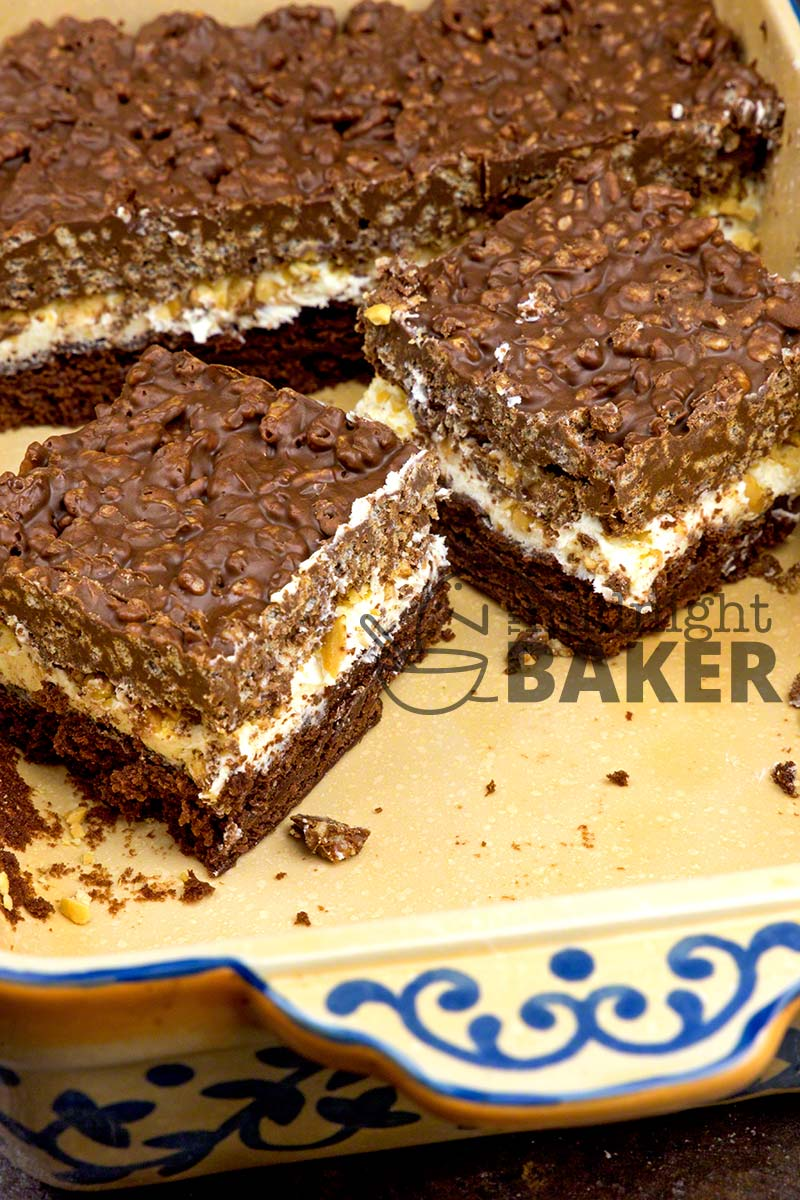 These delectable brownies have 3 layers of deliciousness and are as easy as 1-2-3