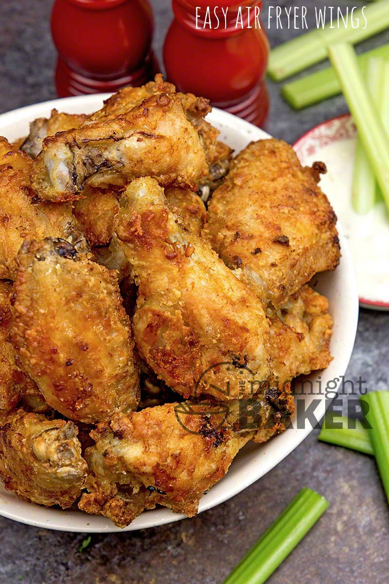 Easy Air Fryer Wings The Midnight Baker