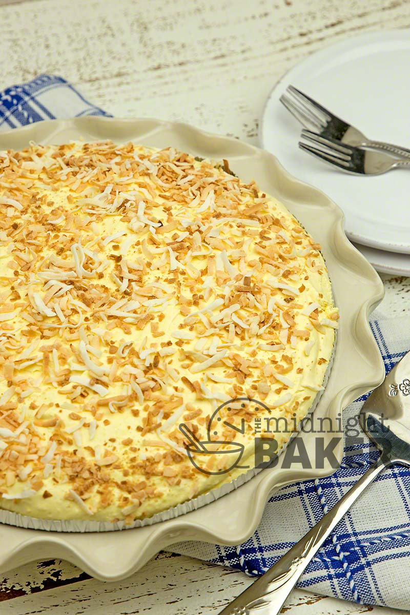 This delicious and creamy coconut pie goes together in a jiffy.