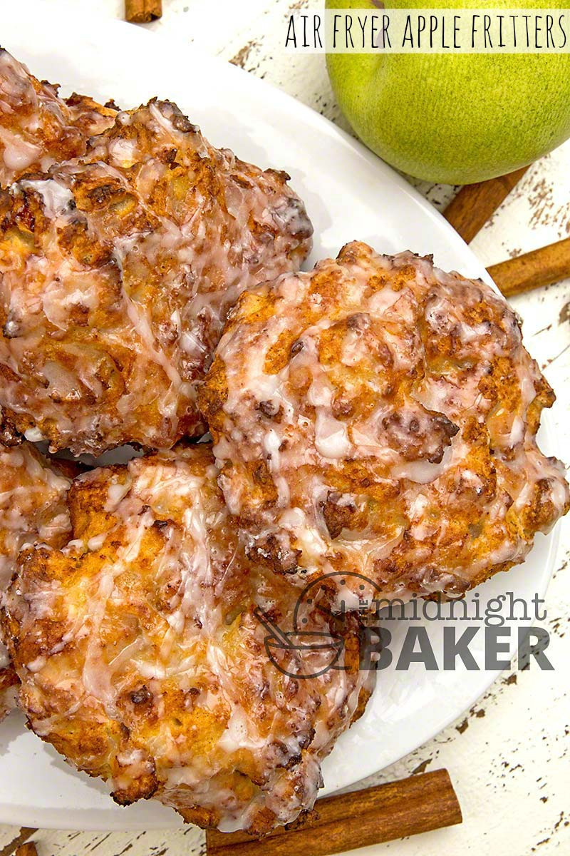 Air Fryer Apple Fritters The Midnight Baker